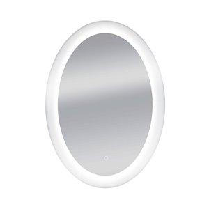 Miroir de salle de bain à DEL Royal de Dyconn Faucet, ovale, 18 po x 24 po