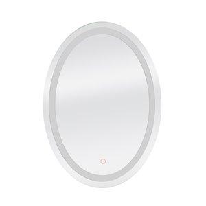 Miroir de salle de bain à DEL Edison de Dyconn Faucet, oval, 18 po x 34 po