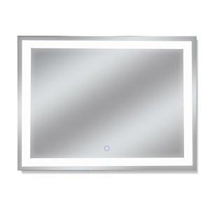 Miroir avec DEL tricolore Edison de Dyconn Faucet, rectangulaire, 48 po x 36 po