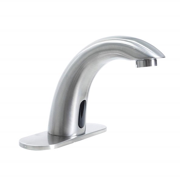 Dyconn Faucet Fontana Brass Touchless Bathroom Faucet - 3.5-in - Brushed Nickel
