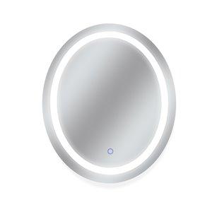 Miroir avec DEL tricolore Edison de Dyconn Faucet, ovale, 30 po x36 po