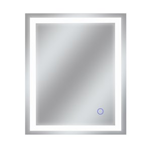 Miroir avec DEL tricolore Edison de Dyconn Faucet, rectangulaire, 30 po x 36 po