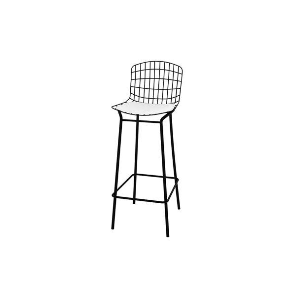 Manhattan Comfort Madeline Barstool - 27.95-in - Black and White