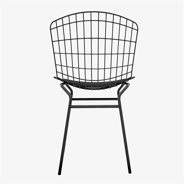Manhattan Comfort Madeline Dining Chair - 31.89-in - Silver and White
