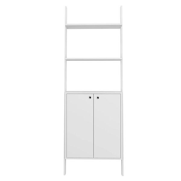 Manhattan Comfort Cooper Ladder Display Cabinet - 24.8-in x 72.04-in - White