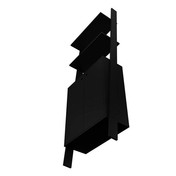 Manhattan Comfort Cooper Ladder Display Cabinet - 24.8-in x 72.04-in - Black