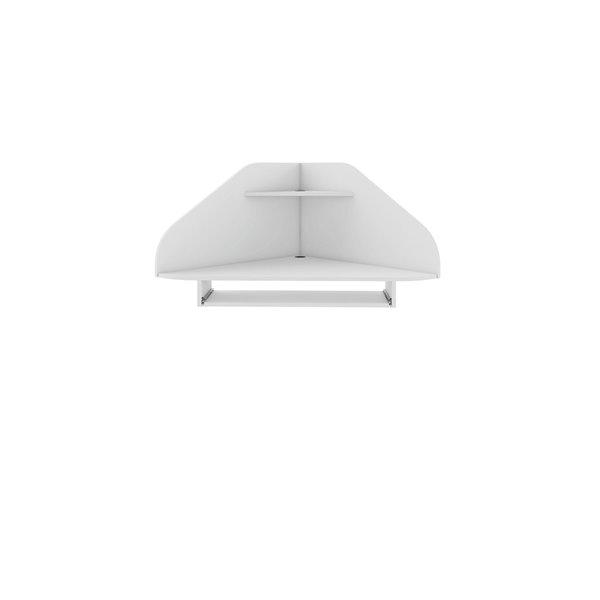 Manhattan Comfort Bradley Floating Corner Desk - 43.98-in - White