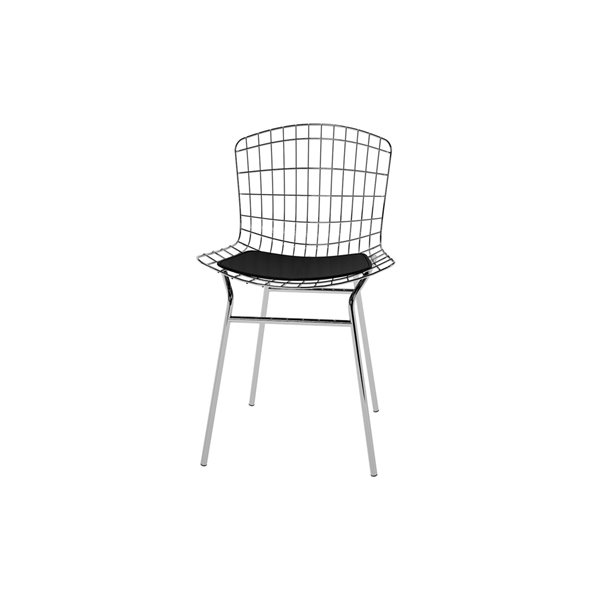 Manhattan Comfort Madeline Dining Chair - 31.89-in - Charcoal Grey and White