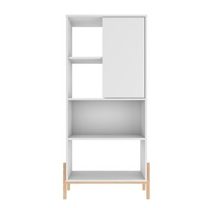 Manhattan Comfort Bowery Bookcase - 28.54-in x 60.43-in - White and Oak