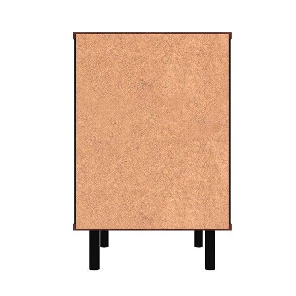 Manhattan Comfort Mosholu Nightstand - 14.96-in - Black/Nut Brown