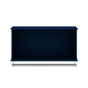 Manhattan Comfort Rockefeller Floating Hanging Closet - 35.24-in - Midnight Blue