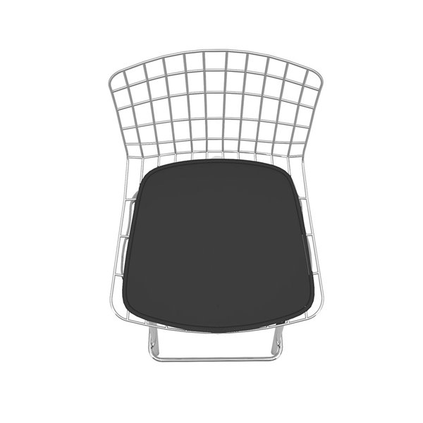 Manhattan Comfort Madeline Barstool - 27.95-in - Silver and Black