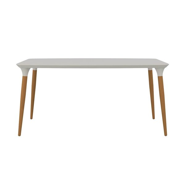 Manhattan Comfort HomeDock Dining Table - 63-in - Off-White