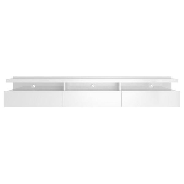 Manhattan Comfort Cabrini Floatting Entertainment Center - 85.62-in x 14.96-in - Glossy White