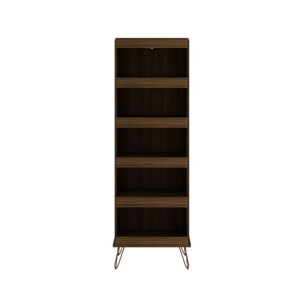 Manhattan Comfort Rockefeller Shoe Storage Rack - 59.72-in - Brown