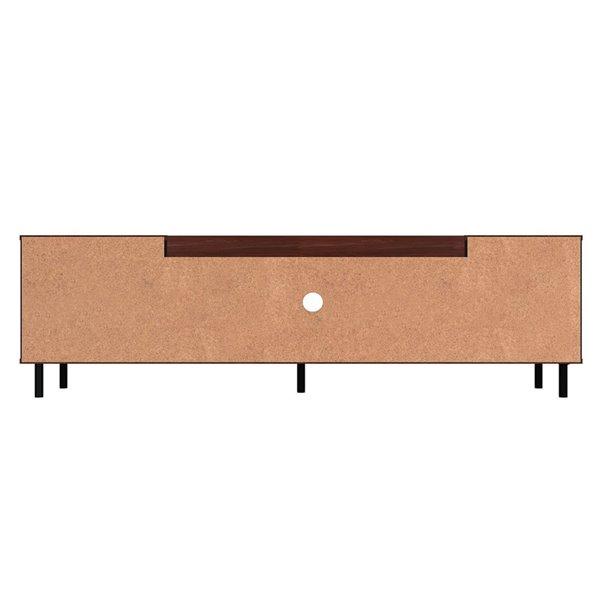 Manhattan Comfort Mosholu TV Stand - 77.04-in x 19.29-in - Black/Brown