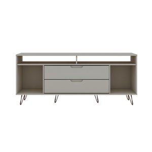 Manhattan Comfort Rockefeller TV Stand - 62.99-in x 26.77-in - Off-White