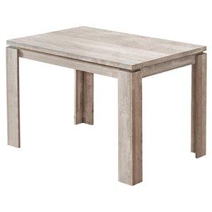 Table salle à manger Monarch, faux bois taupe, 32 po x 48 po