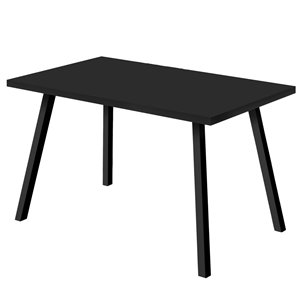 Monarch Dining Table - Black / Black Metal - 36-in x 60-in