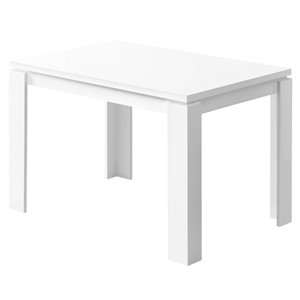 Table salle à manger Monarch, blanc, 32 po x 48 po