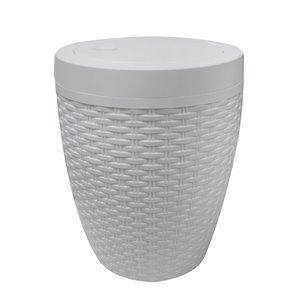 Panier à linge Modern Homes rond pour salle de bain, 7 L, blanc