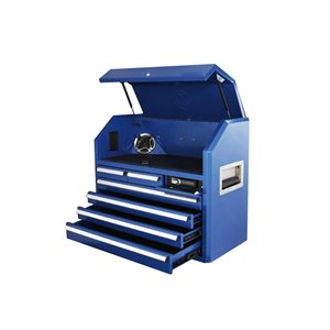 Coffre à outils Toolmaster supérieur bleu à 8 tiroirs, 35 po