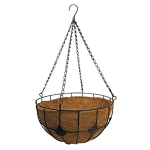 Blooms Hanging Planter with Coconut Fiber - 14-in