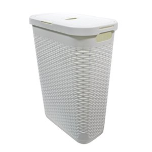 Modern Homes Laundry Hamper 40 L - White