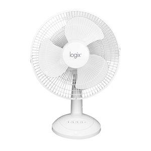 Ventilateur de table oscillant Logix noir, 12 po
