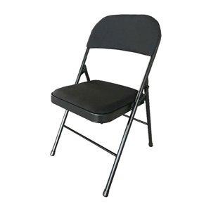 Chaise pliante Modern Homes rembourrée, noire