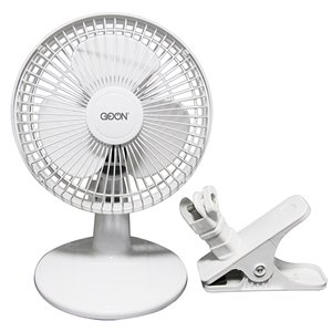 GO ON Desk Fan With Clip - 6-in
