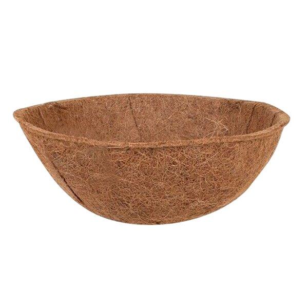 Doublure de rechange Blooms en fibres de coco pour jardinière, brun/tan, 14 po