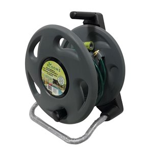 Blooms Freestanding & Wall Mounted Hose Reel - Black - 14.5-in x 17.5-in x 11-in