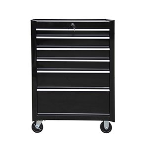 Toolmaster Tool Chest with 5-Drawer - Black - 20-in x 35-in x 29-in