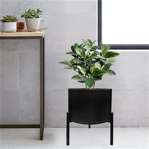Blooms Planter - Black and Black Steel stand - 12.6-in x 29-in x 33-in
