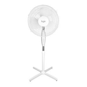 Ventilateur sur pied oscillant Logix blanc, 16 po