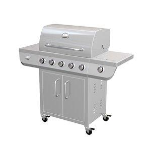 Barbecue en acier inoxydable Toolmaster à 5 brûleurs, gaz propane