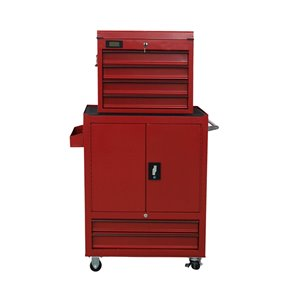 Toolmaster 6 Drawer Tool Chest Tower  - Red - 3-in caster wheels - 18-in x 36-in x 30.5-in