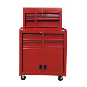 Coffre à outils Toolmaster tour combinée à 5 tiroirs, rouge, 16 po x 28.5 po x 28 po