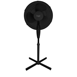 Ventilateur sur pied Logix noir, 16 po