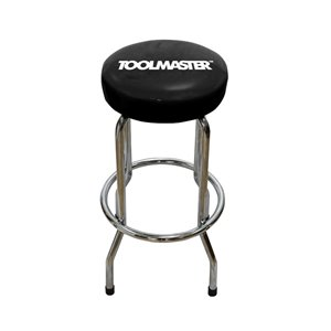 Toolmaster Bar Stool - Black and Silver