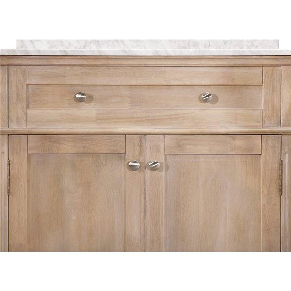 Ensemble meuble-lavabo de salle de bain Sunjoy à évier ovale simple, brun clair, 2 portes/1 tiroir, 36 po