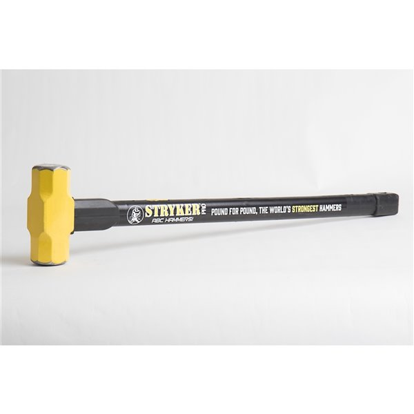 ABC Hammers Steel Reinforced Rubber Handle Hammer - 8 lbs -  24-in