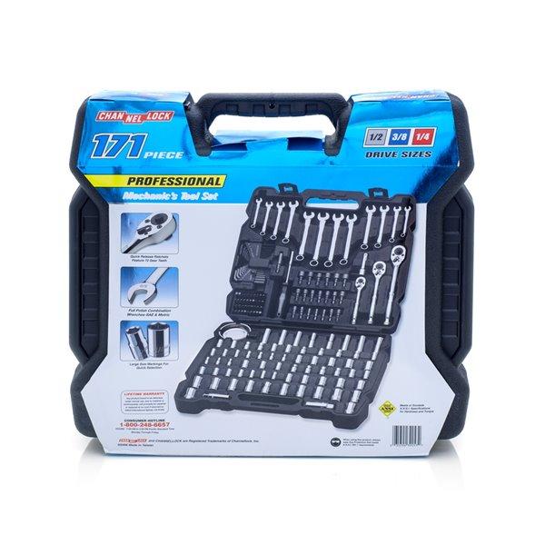 Chanellock Mechanics Tool Set - 171 Pieces - Chrome