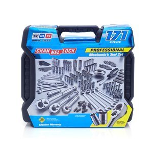 Chanellock Mechanics Tool Set - 171 Pieces - Chrome