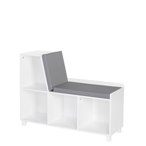 RiverRidge Home Book Nook Collection Kids Storage Bench with Cubbies - 12.38-in x 35-in x 26.5-in - White