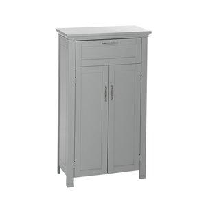 RiverRidge Home Somerset Two Door Bathroom Floor Cabinet - MDF - 11.81-in x 23.6-in x 40.25-in - Grey