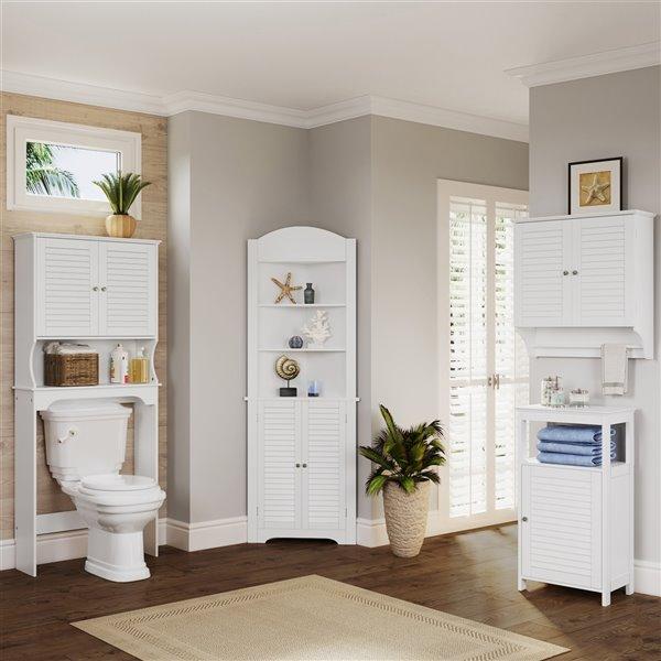 Riverridge Home Ellsworth Tall Corner Cabinet Mdf 17 5 In X 23 25 In X 68 31 In White 06 027 Rona
