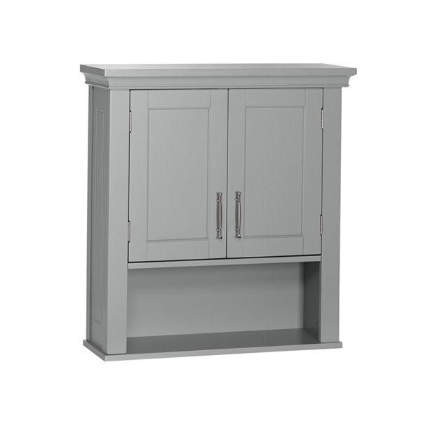 Riverridge Home Somerset Two Door, Black Wall Cabinet For Bathroom