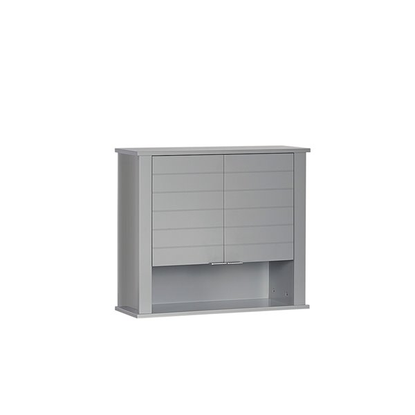 RiverRidge Home Madison Two-Door Wall Cabinet - 7.88-in x 22.88-in x 19.88-in - Grey
